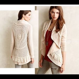"""NWOT-Anthro """"Knitted&Knotted"""" Fringe Cardigan"""